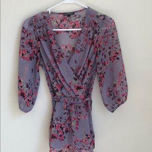 Express Lace Floral blouse